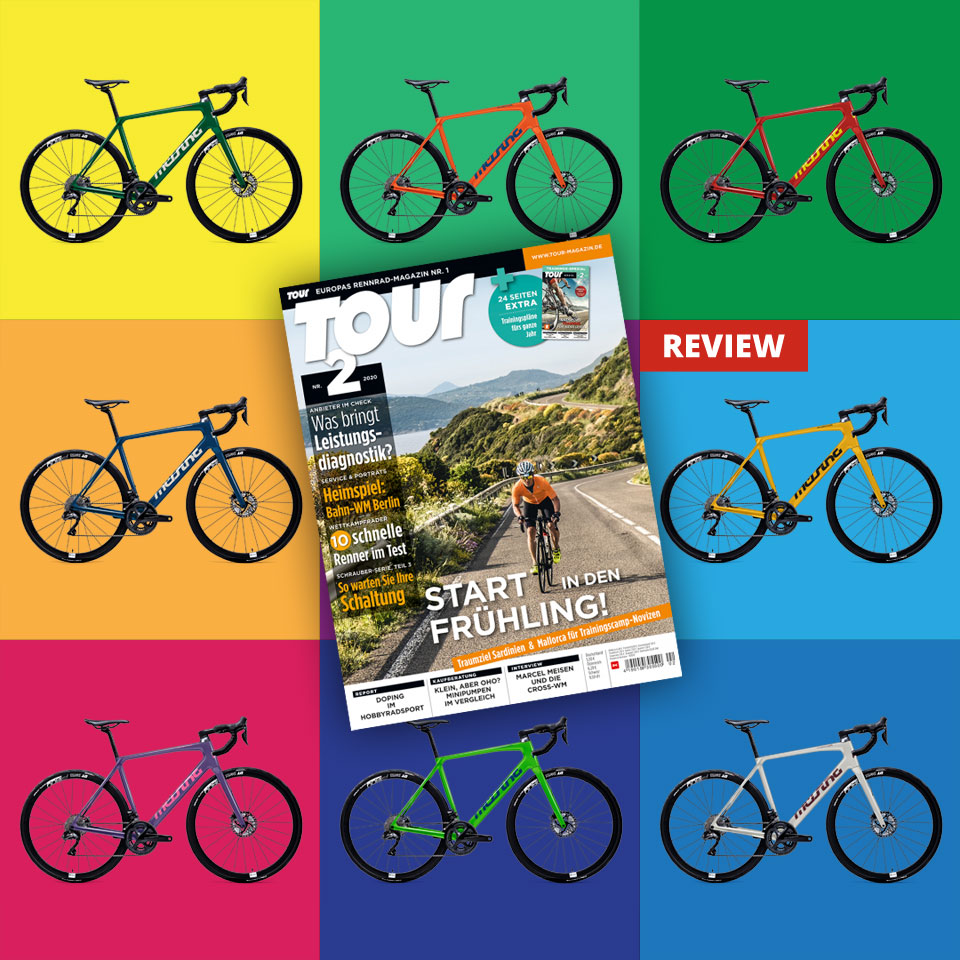 German TOUR magazine reviews our new Aviator Disc in their 02/2020 issue.