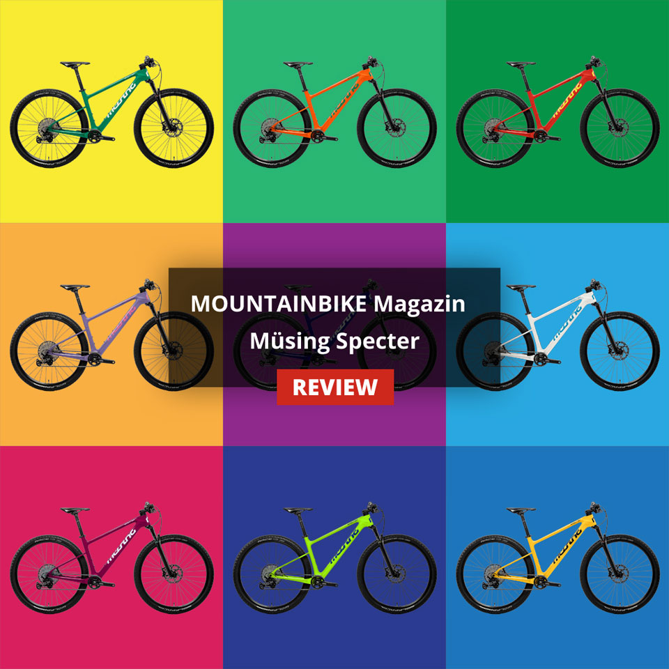 "Müsing Specter: ""Very good"" verdict in the XC hardtail test of the MOUNTAINBIKE magazine issue 03/2020"